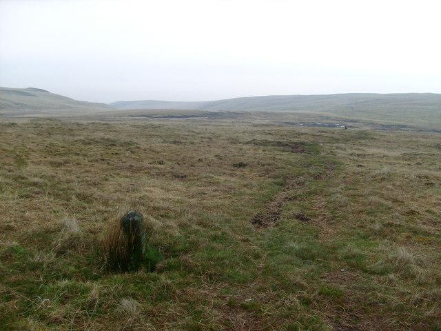 Boundary stone near Bwlch y Ddau Faen