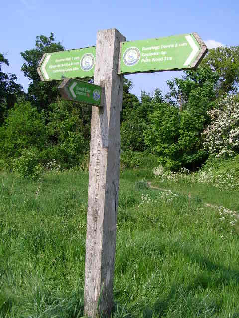 Milepost for London Loop, the Warren