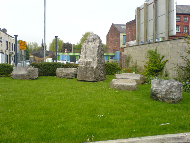 Stone seating and sculpture