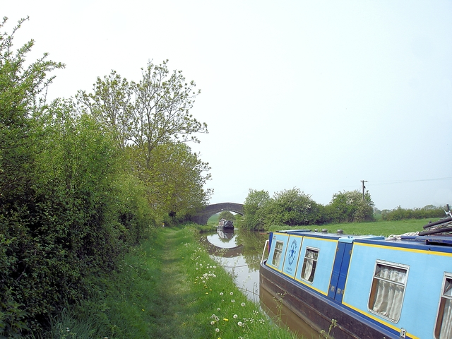 Tiverton - canal boat at Dale's Bridge