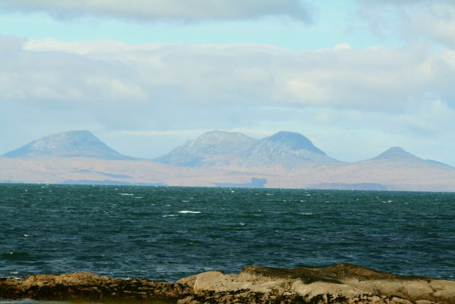 The Paps of Jura seen from North Kintyre