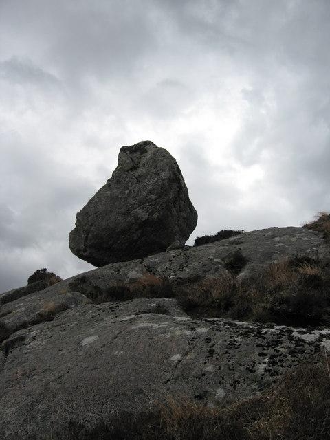 Boulder on Carn nam Buailtean