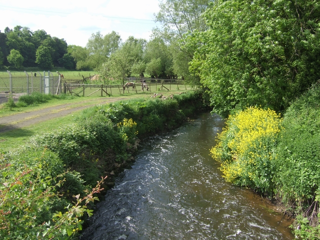 River Stour downstream of Wolverley Bridge