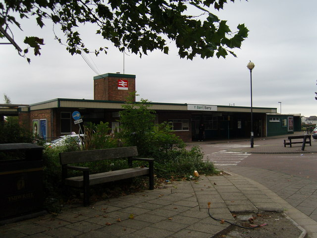 Barry Railway Station Exterior