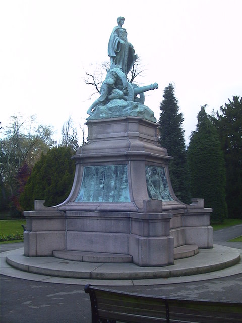 South African War Memorial Statue - Cannon Hill Park