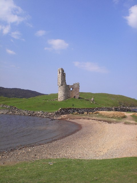View of Ardvreck Castle