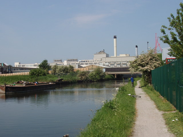 Canal bridge by Nestlé factory