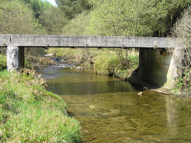 River Severn, Forestry road bridge, Cwm Ricket