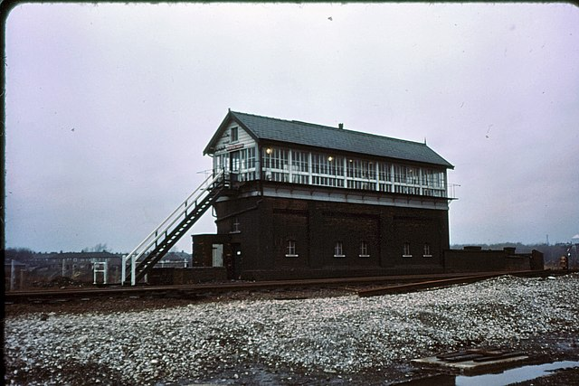 Newton Heath signalbox 1975