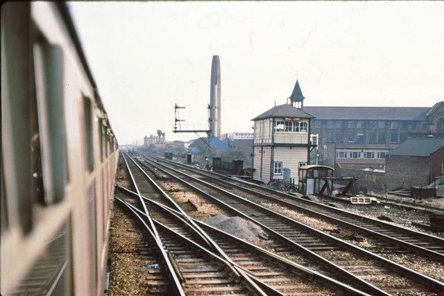 Bell Lane signalbox, Leicester 1979