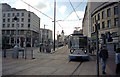 SK3587 : Sheffield tram at Fitzalan Square by Dr Neil Clifton