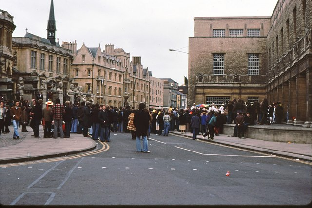 Broad Street, Oxford - May Day revels 1979
