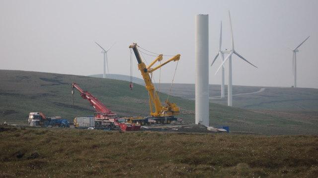 Turbine Tower No 20 under construction