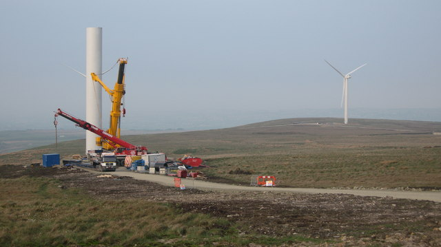 Turbine Tower No 20 construction site