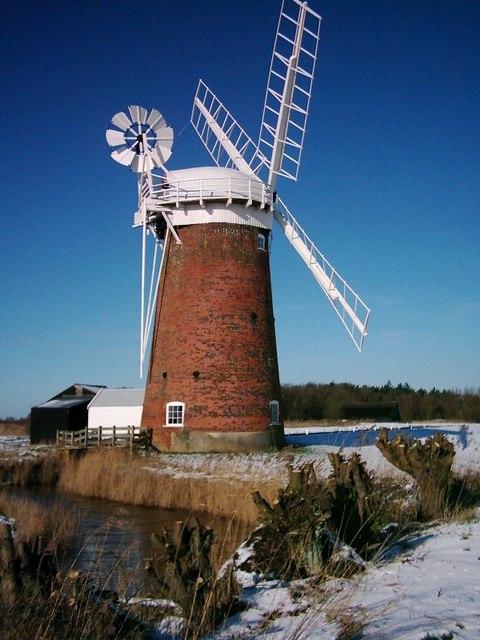 Snow scene, Horsey Mill