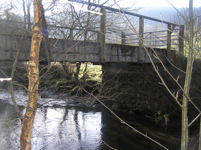 River Severn,Hafodfeddgar farm bridge.