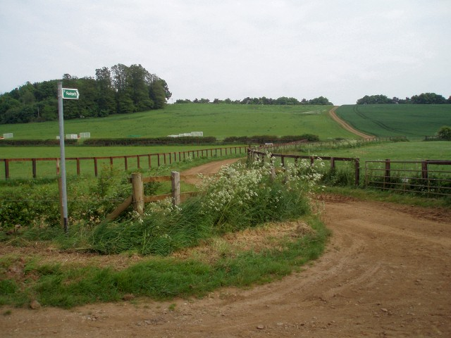 View up from Wardington Gate Farm