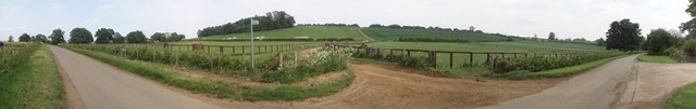 Panorama of the road from Edgcote to Wardington