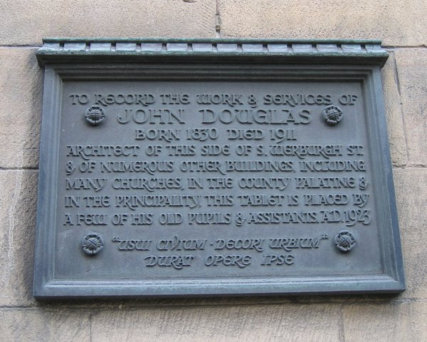 Commemorative plaque to John Douglas