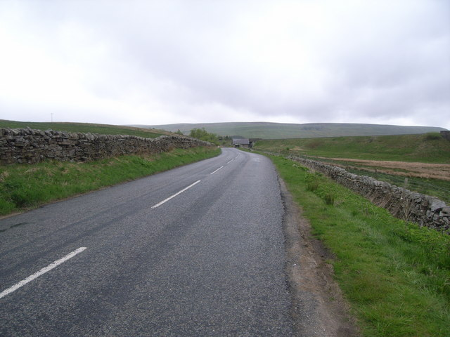 Looking north-east along the A684