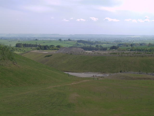 View across Spaunton Quarry