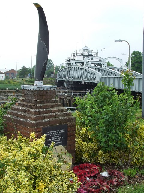 Memorial to R.A.F. Sutton Bridge