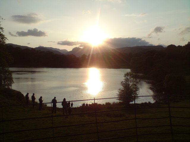 Sunset at Loughrigg Tarn