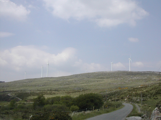 Windmills on the Coom mountains