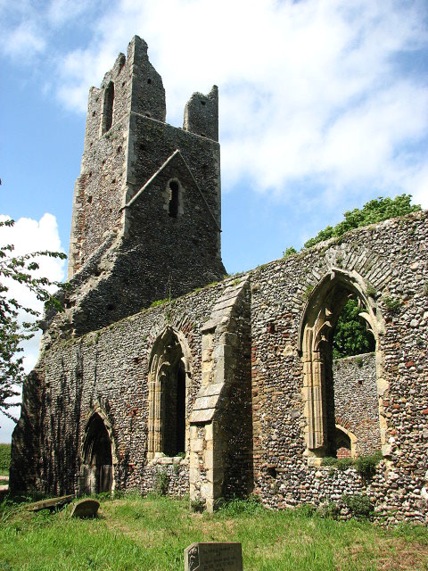 The church of St Peter & St Paul - the ruined tower