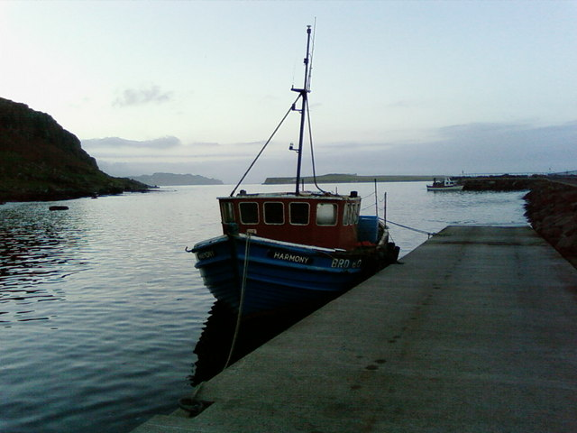 Harmony fishing boat at Staffin slip