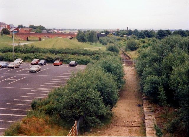 Bury Knowsley Street station site 1988