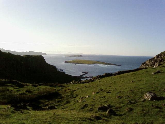Staffin, Flodigarry Islands from Garafad hill