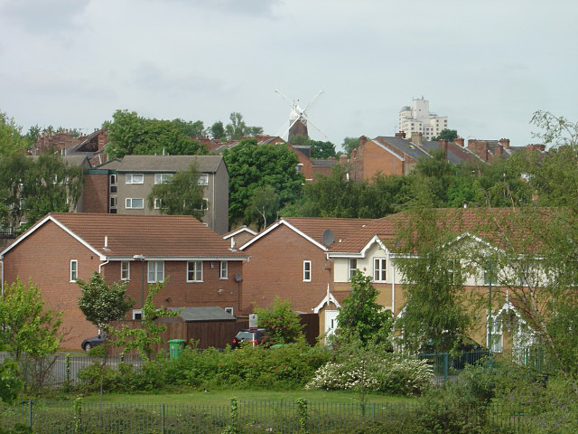 View of Sneinton from Manvers Street railway bridge