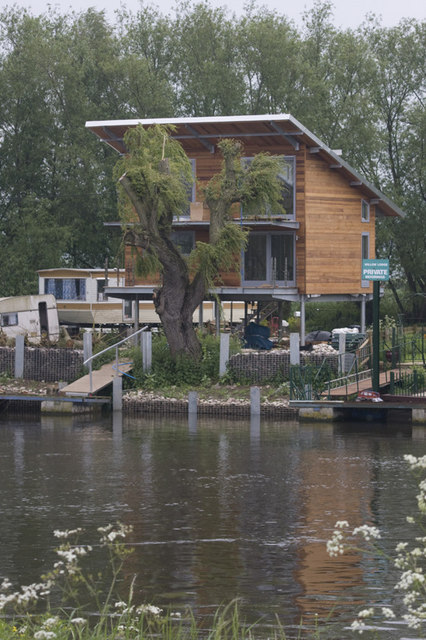 Riverside Home On Stilts