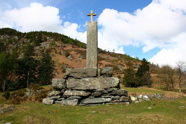 Taliesin Monument at Llyn Geirionydd