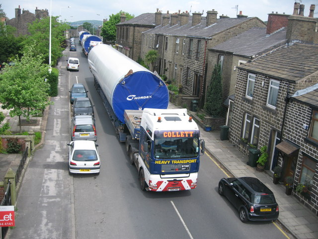 Last Turbine Tower Delivery to Scout Moor