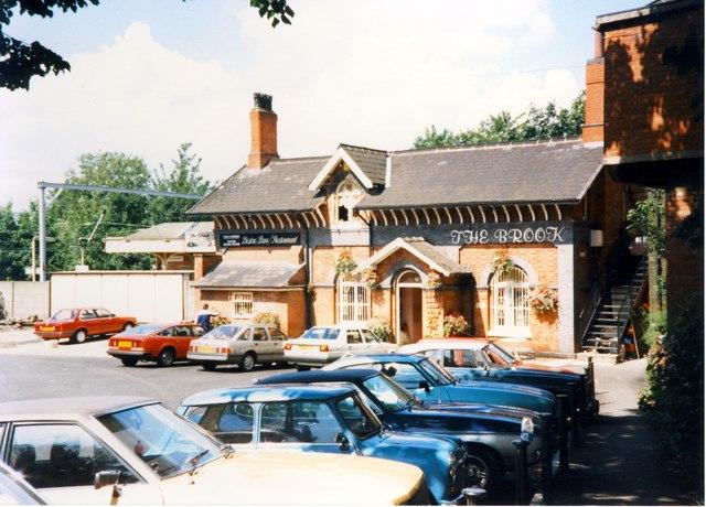 Brooklands station - The Brook wine bar