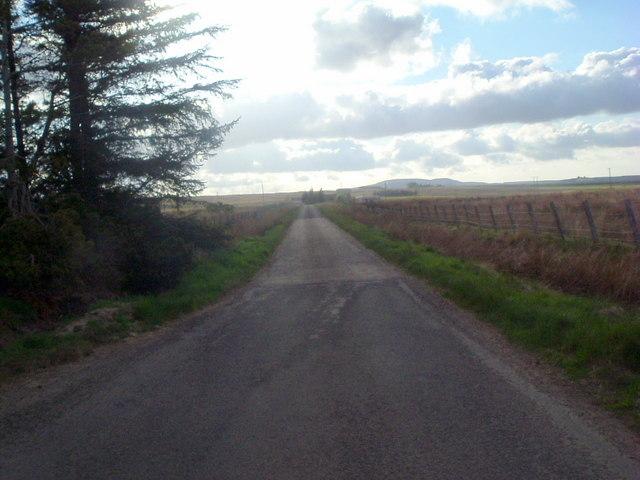 Road southwest near Westerdale