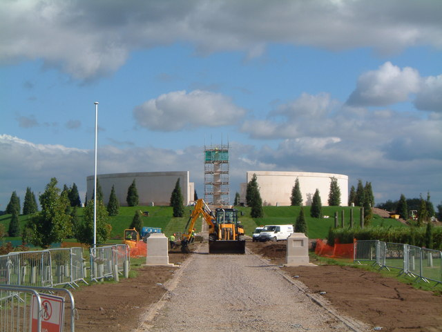 Armed Forces Memorial, under construction, September 2007