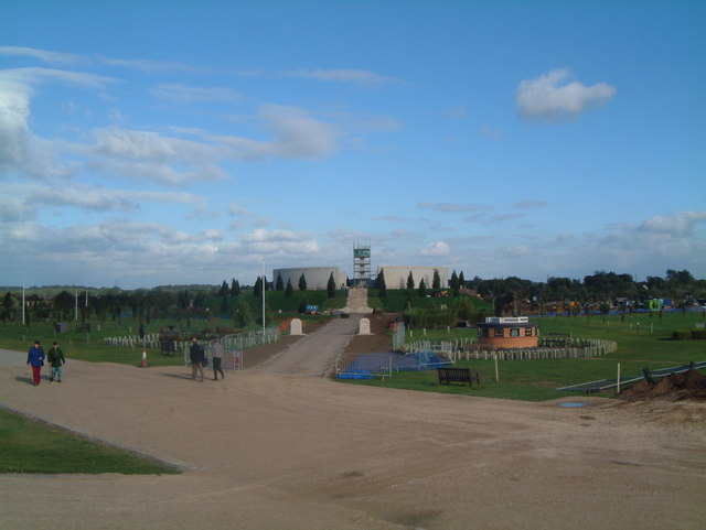 Armed Forces Memorial, under construction September 2007