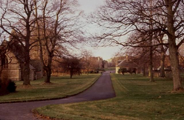 Drive to Etal Manor Northumberland