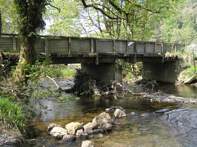 River Severn,Glynhafren farm bridge.