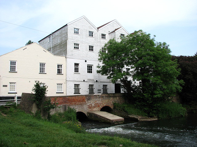 The former Buxton Water Mill - mill race
