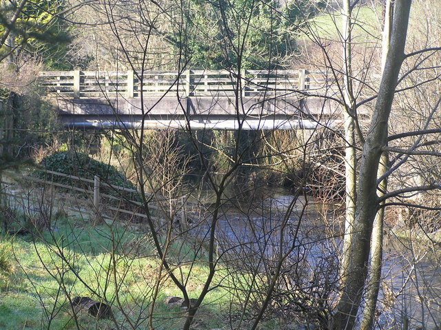 River Severn,Glynhafren road bridge.