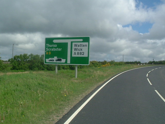 Road junction at Roadside