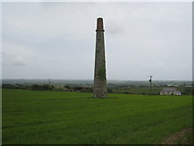 SW6930 : Isolated chimney in a field at Manhay by Rod Allday