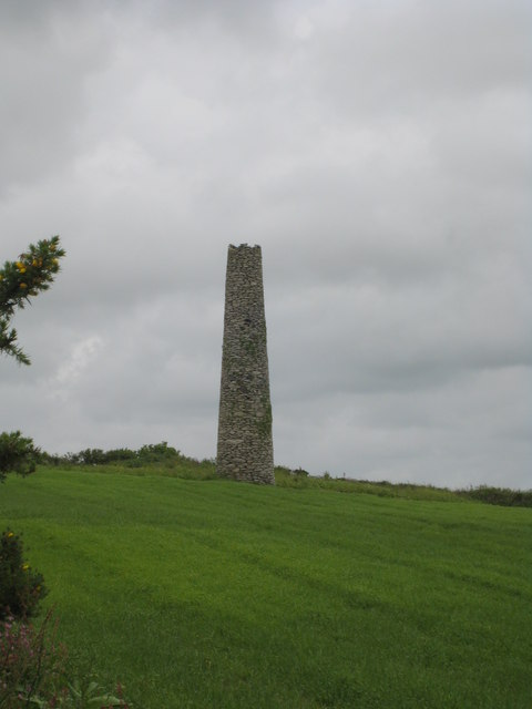 Isolated chimney in a field at Manhay