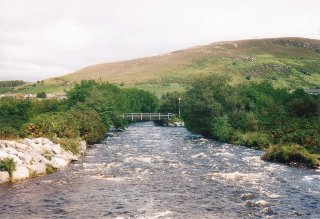 Ullapool river and footbridge