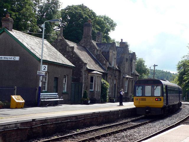 Train at Eggesford Station