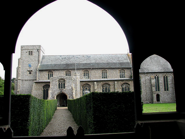 The church of All Saints - view through lych gate